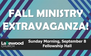 Fall Ministry Extravaganza